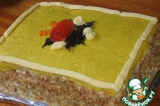 Рецепт: Закусочный торт Сырные страсти