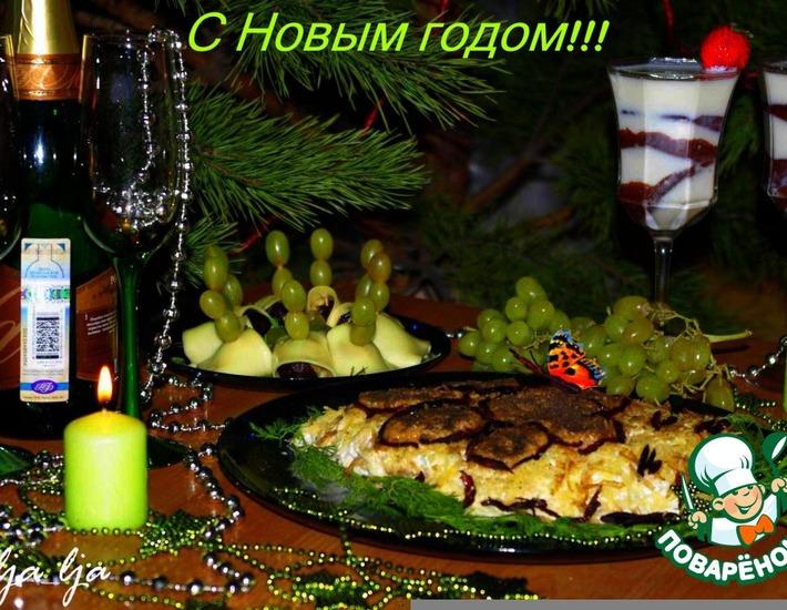 """Рецепт: Закуска """"Зелeный хоровод"""""""