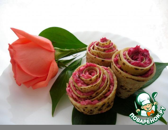 Рецепт: Розы из лаваша