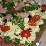 Закусочный торт в Новогоднем стиле