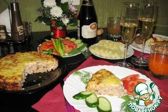 Рецепт: Закусочный пирог Счастливый вечер