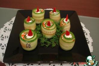Рецепт: Закуска Рождественские свечи