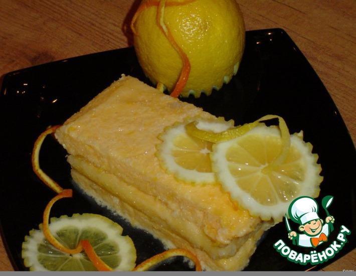 "Рецепт: Замороженный десерт ""Лимонное семифредо"""