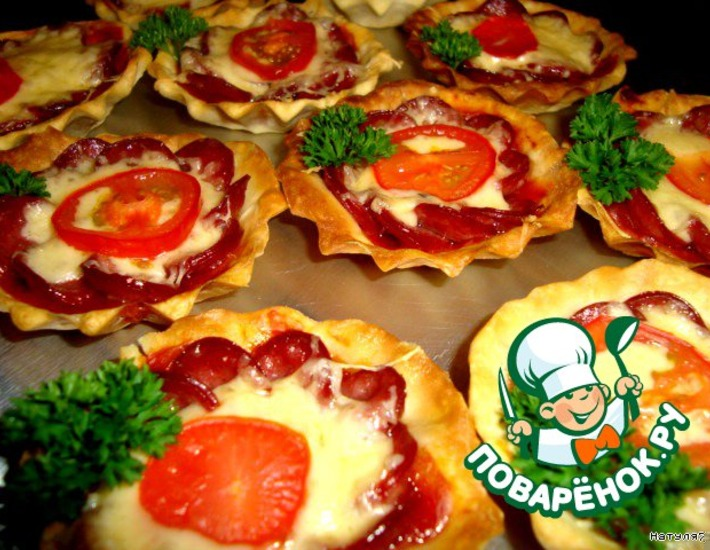 Рецепт: Тарталетки-пиццы