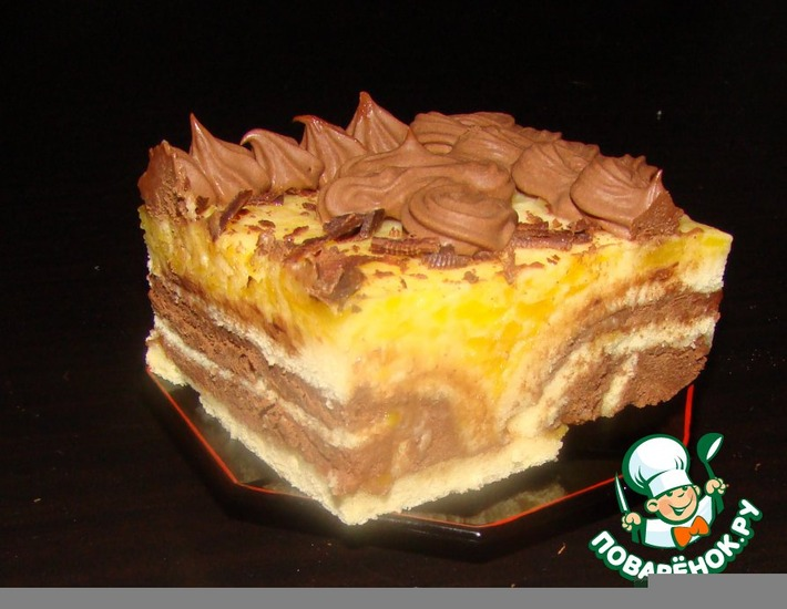 "Рецепт: Торт ""Мозаика"""