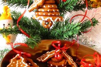 Рецепт: Имбирное печенье Колокольчики