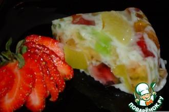 Рецепт: Желейно-персиковый торт
