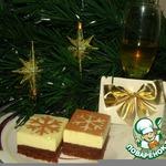 Новогоднее пирожное-суфле Снежинка
