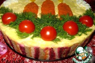 Рецепт: Закусочный торт Пламя свечи
