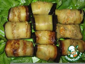 Рецепт Рулеты из баклажан по-кавказски