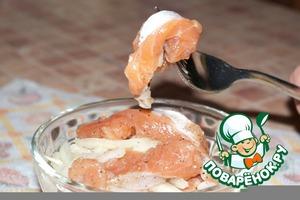 Рецепт Малосольный лосось с луком за 40 минут