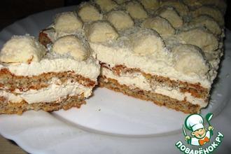 Рецепт: Торт миндальный Рафаэлло