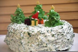 Рецепт: Закусочный торт Чумовой