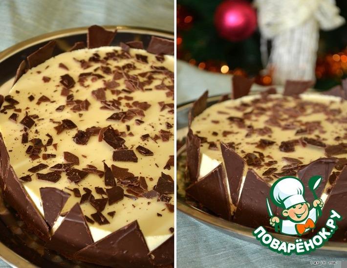 Рецепт: Торт с двойным муссом Капуччино