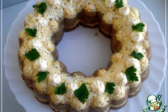 Рецепт: Закусочный торт Фантазия