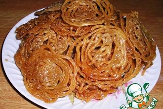 Рецепт: Индийский десерт Джалеби