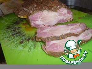 Pork baked in herbs and spices