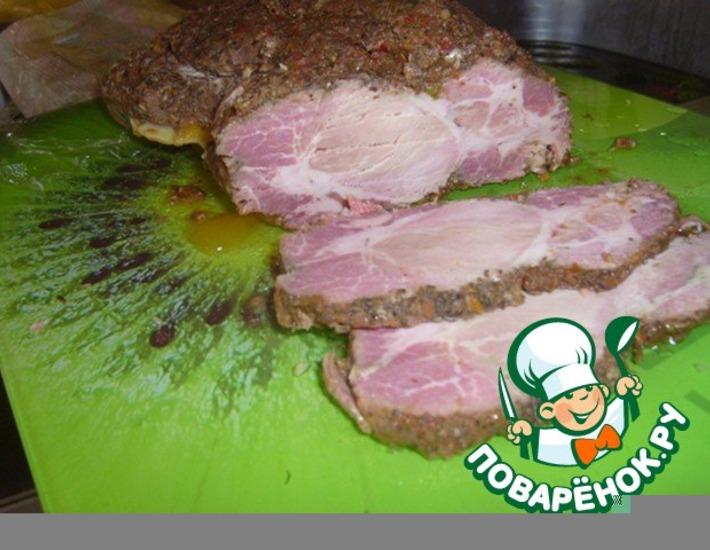 Рецепт: Свинина, запеченная в травах и приправах
