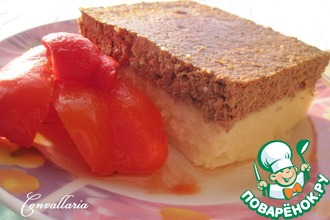 Рецепт: Картофельная запеканка с печеночным суфле