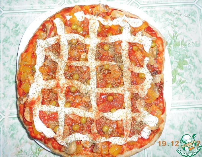 Рецепт: Постный пиццеобразный лаваш