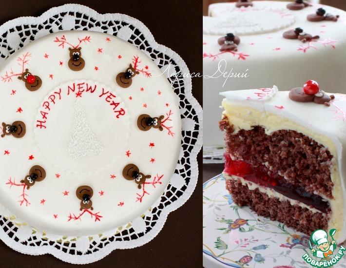 Рецепт: Рождественский торт