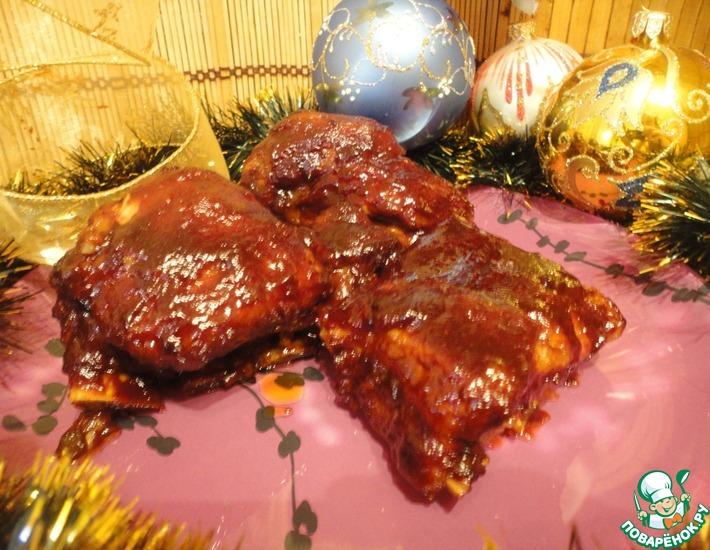 Рецепт: Свиные ребрышки в глазури