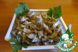 Рецепт: Салат с языком Зимний