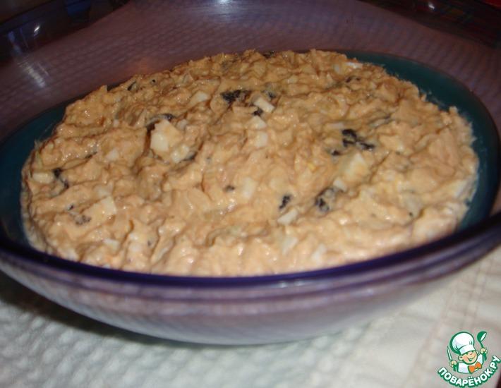 салат из консервированной форели и майонеза рецепт