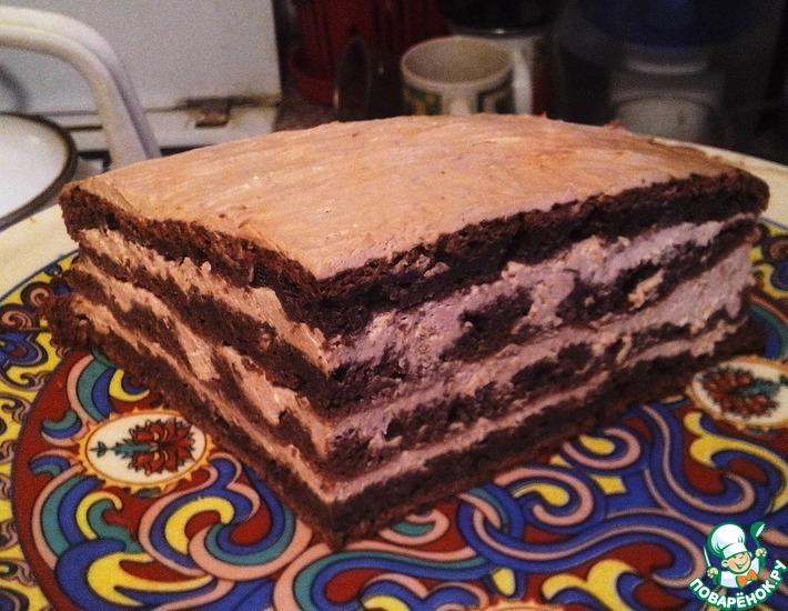 Шоколадный торт с творожным кремом по Дюкану