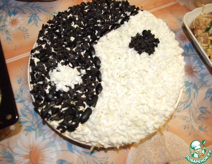 Рецепт: Салат Инь-Ян с маслинами