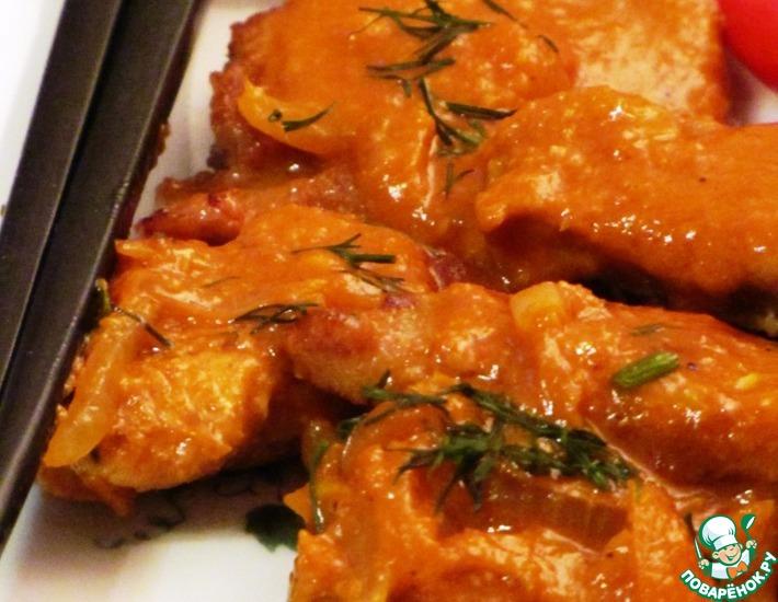 Рецепт: Свинина в имбирном соусе по-китайски