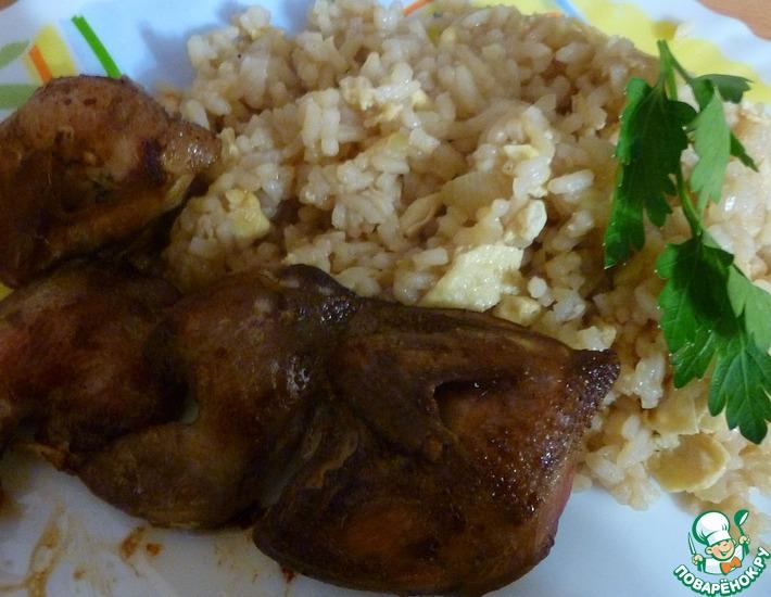 Рецепт: Перепела с рисом