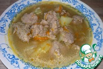 Рецепт: Суп с клецками из потрошков