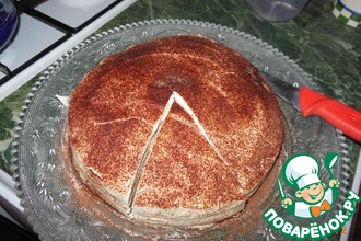 Рецепт: Торт блинный А-ля Тирамису