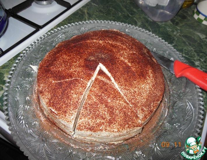 """Торт блинный """"А-ля Тирамису"""""""
