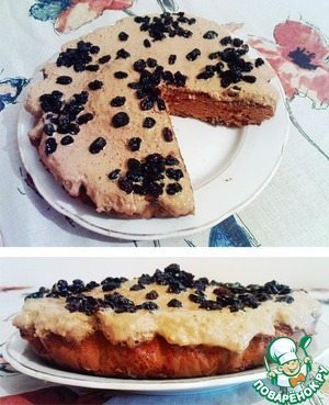 """Рецепт Быстрый пирог """"Любитель сгущёнки"""""""