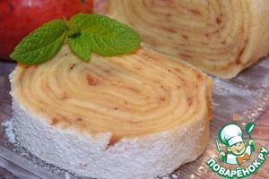 """Рулет с яблоками """"Боло-де-Роло"""" – кулинарный рецепт"""