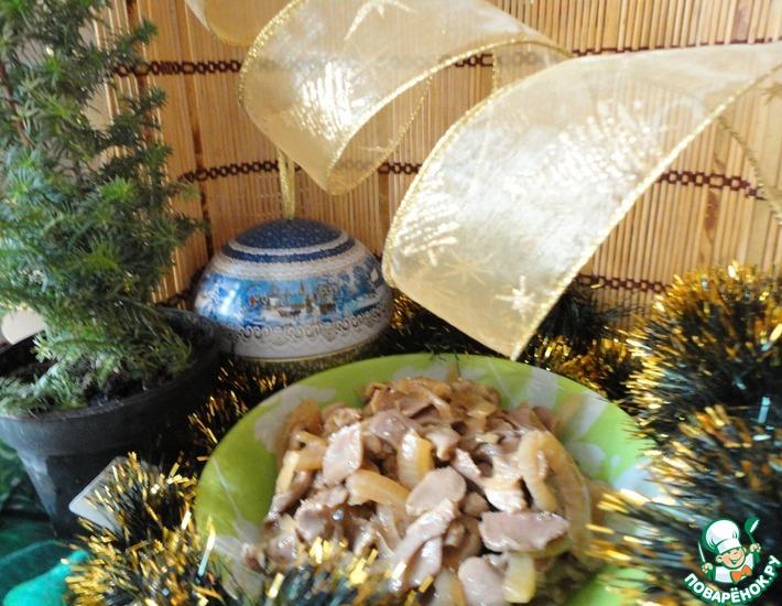 Рецепт: Куриные желудки по-корейски