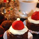 Новогоднее пирожное Санта