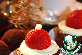 Рецепт: Новогоднее пирожное Санта