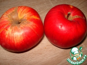 У меня было 2 крупных яблока.
