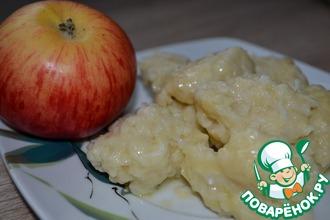 Рецепт: Галушки из яблок