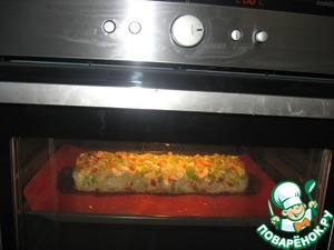 On top sprinkle ostatkami almonds, vegetables and cheese. Bake in a pre-razogretoj the oven to 200 degrees for 45 minutes.