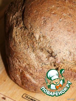 Режим:Basic Bake (Основная выпечка)   Подогрев: 30-60 мин.   Замес: 15-25 мин.   Подъём: 2ч.15мин.   Выпечка: 50 мин.   Общее время: 4 часа   Размер: М (средний)   Корочка: M (средняя)      Остудить хлеб на решетке.
