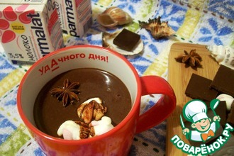 Рецепт: Горячий шоколад с зефиром