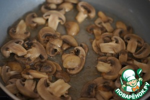 Fry the mushrooms until Golden brown