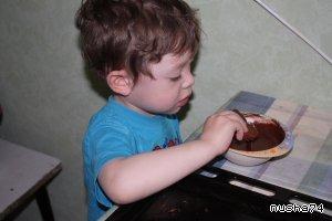 Орехово-шоколадные  рогалики