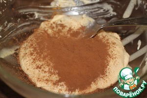 In the third part, and cocoa if you like it sweeter, a little more powdered sugar.