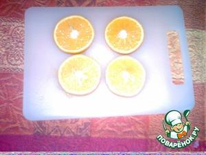 1. режем апельсинки поперёк
