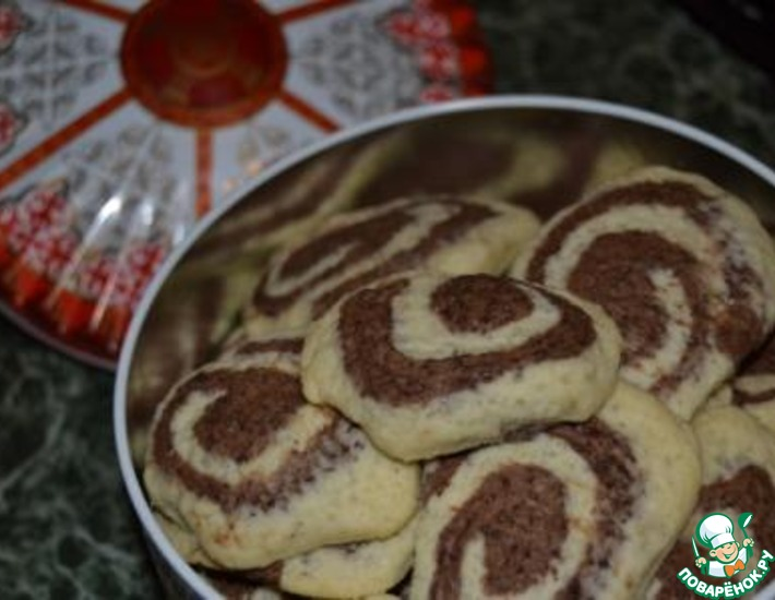 Рецепт: Печенье Рулетики